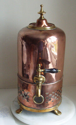 Vintage Antique Copper and Brass Tea Urn 47cm Tall