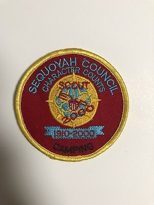BSA Sequoyah Council Scout EXPO 2000 Camping Patch- Boy Scouts