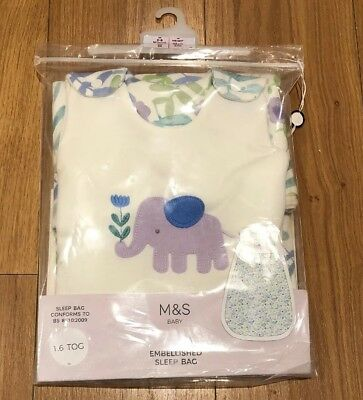 M&S Baby Embellished Sleep Bag 0-6 Months