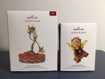 Hallmark Keepsake 2018 Beauty & The Beast BE OUR GUEST and COGSWORTH Limited Edi
