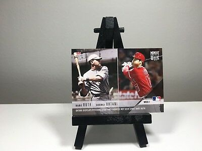 Shohei Ohtani Babe Ruth 2018 Topps Now Moment Of The Week SP Angels MOW-1