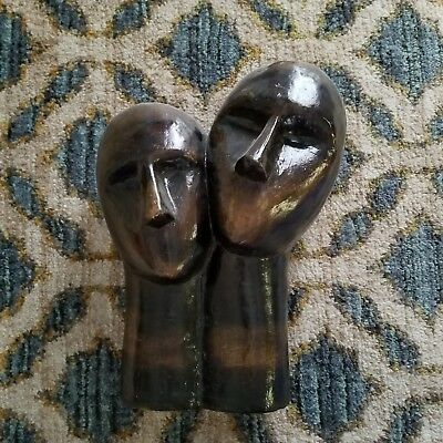 Vintage 60s 70s Brown Acrylic Mannequin Head Bust Abstract Mid Century Modern