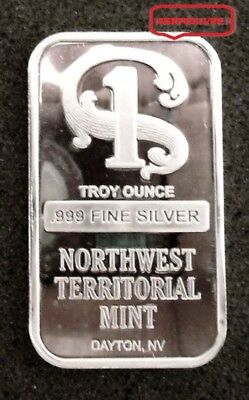 Northwest Territorial Mint  1 Troy Ounce {Unc} .999 Pure Fine Silver Bullion Bar