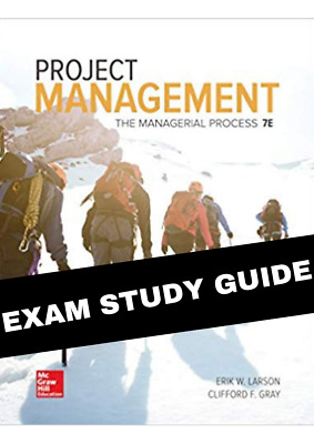 (PDF) Project Management - The Managerial Process (EXAM STUDY GUIDE)