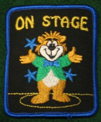 On Stage Acting Theater Drama Play Cub Boy Girl Scout Fun Patch - NEW