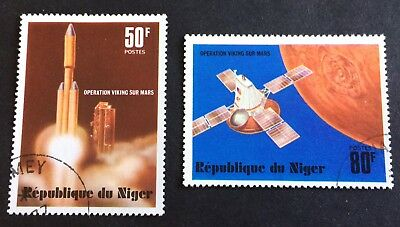 Spaceships Niger - 2 nice used stamps