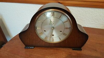 Smiths 8 Day Dual Chime Mantel Mantle Clock Westminster Whittington Excellent