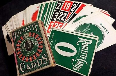 1906 Early Legal Gambling Antique Historic American Roulette Playing Cards