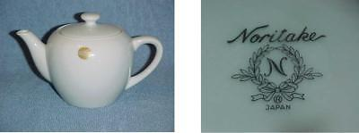 Continental Airlines Gold Logo Meatball Individual Teapot Noritake Coffee Pot