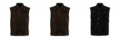 Roland Sands Design Men's Ramone Perforated Waxed Cotton Vest