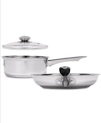 Sedona 2 Piece Stainless Steel Saucepan & Fry Pan Induction Cook Set with Lid