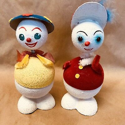 Pair Of Vintage Western German Bobble Head Candy Containers