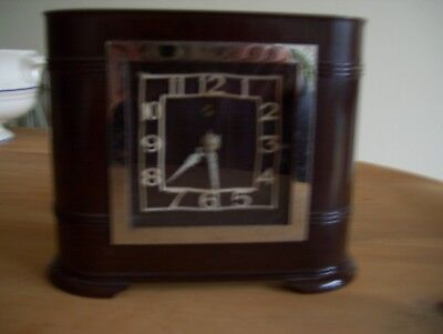 Art Deco Bakelite Smiths Mantle Clock-Superb Order But Not Running.