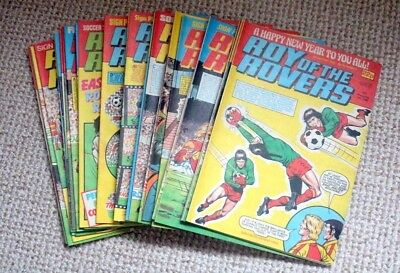 Roy Of The Rovers 5 Jan- 29 Jun -- 26 Copies--1985