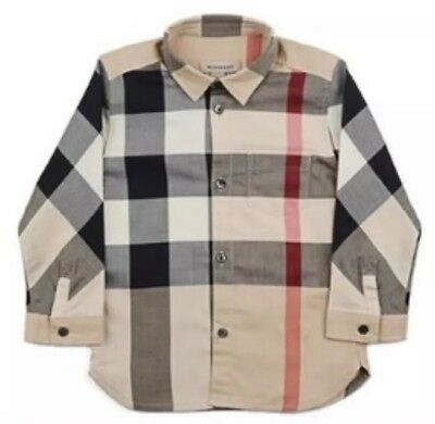 BURBERRY - BABY CHECK CLASSIC LONG  SLEEVE SHIRT- 3 Months  NEW /TAGS Xmas Gift