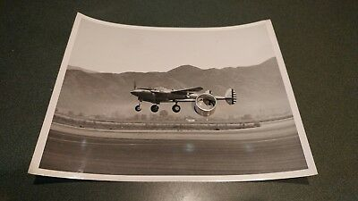 Early 1940s p38 test lightning fighter pursuit aircraft photo landing @ Burbank?