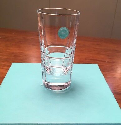 RARE NEW 2 Tiffany & Co Lead Crystal  Classic Shot Glasses gift wrap
