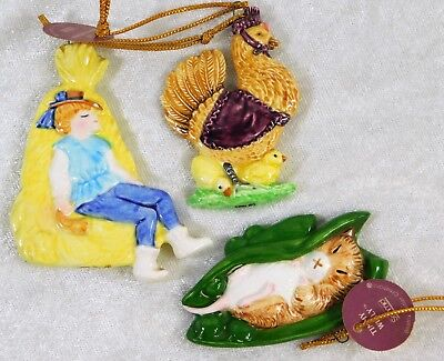Schmid Beatrix Potter Nursery Rhymes As Is Christmas Hanging Ornaments 3