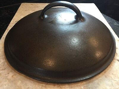 Wagner Ware Cast Iron Dutch Oven Lid No. 8 Unmarked