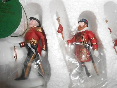 """Dept. 56 Dickens Village """"Yeomen Of The Guard""""~Mint In Box~Set Of 5"""
