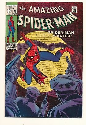 Amazing Spider-Man #70 Marvel Silver Age Off white pages NICE!!!