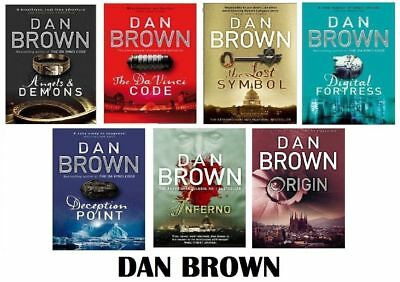 Dan Brown 7 BOOKS COMPLETE SET COLLECTION BIBLIOGRAPHY