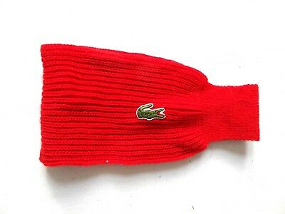 Unisex Vintage Red Lacoste Ski Snowboard Winter Headband One Size