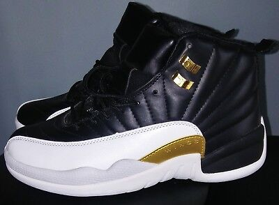 "b0b8b95c0e73ad 2016 Nike Air Jordan 12 XII Retro ""Wings"" Gold White Black size 7 Worn"