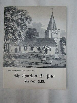 1960s GUIDE TO THE CHURCH OF ST. PETER SHORWELL ISLE OF WIGHT