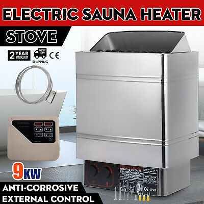 9KW Wet Dry Estufa de sauna External Control Connection 2 Working Mode Durable