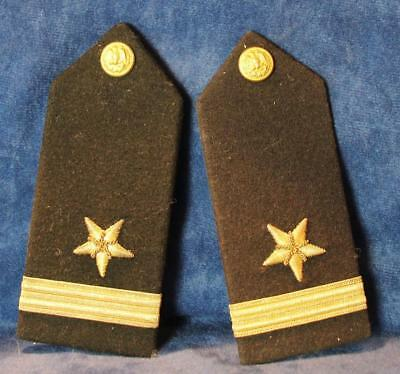 Ww Ii Us Navy Ensign Line Officer Straight Flat Shoulder Boards Pair Matching