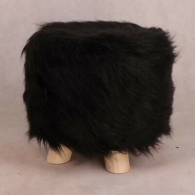 Blesiya Soft Furry Round Footstool Cover Little Stool Chair Fits 28cm Dia