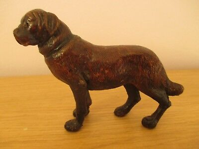 Antique Black Forest Standing Dog Swiss Wood Carving