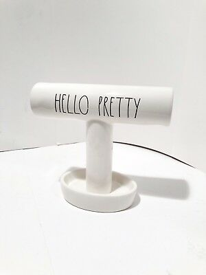 New RAE DUNN CERAMIC LL Hello Pretty BRACELET Jewelry HOLDER