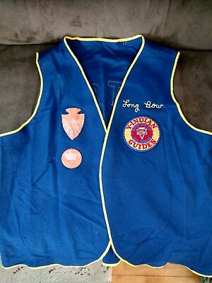 Ymca Y-Indian Guides Felt Vest With Patches.  Otoe