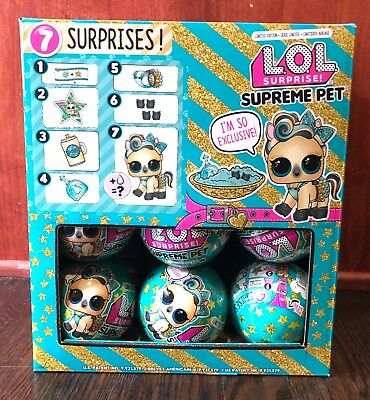 LOL Surprise Limited Edition SUPREME Pet Lucky Lux Authentic LOL Ball MGA