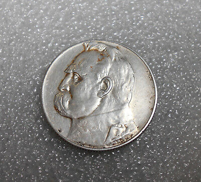 Poland 5 Zlotych Silver Coin 1936 Circulated / Jozef Pilsudski (3)