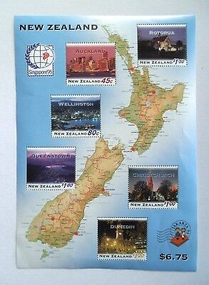"""Postage Stamps/Sheetlet, New Zealand, 1995, MNH, """"NZ at Night"""", Excellent"""