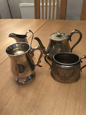 epns tea set And Tankard Four Items In Total