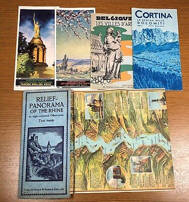 Ten Travel Brochures Guides EUROPE Maps Netherlands Italy Holland and More