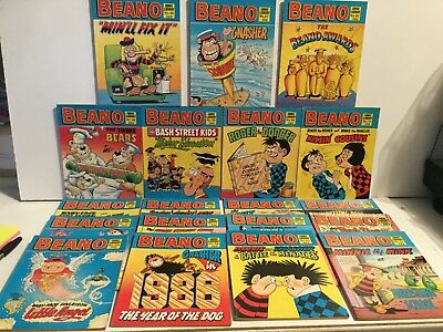 Vintage Beano Comic Library - Job Lot  of  19 Issues
