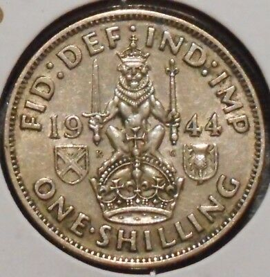 British Silver Shilling - 1944-S - King George VI - $1 Unlimited Shipping