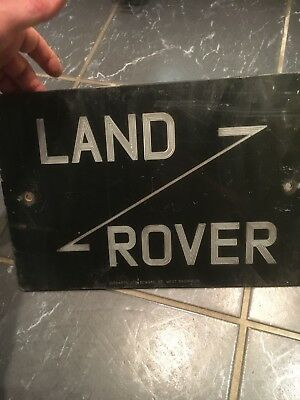 Genuine Land rover,series,advertising Sign