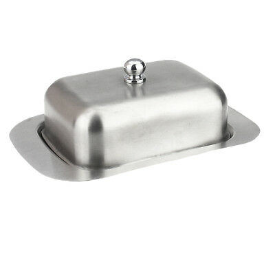 Stainless Steel Butter Dish with Lid Dessert Serving Tray Fruit Container B