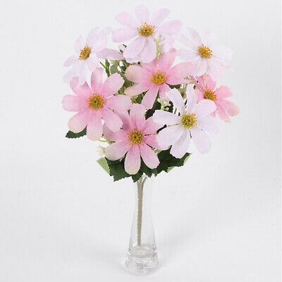 Artificial Cherry Blossom Branches  Flowers Stems Silk Bouquet-Pink