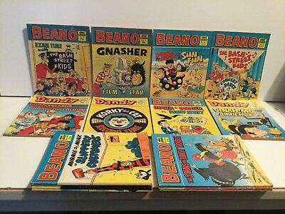 Vintage Beano and Dandy  Comic Library - Job Lot  of  15 - 7 Beano and 8 Dandy