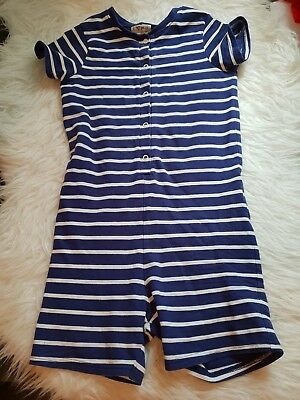girls 5-6-7 years striped dungarees shorts jumpsuit playsuit romper clothes next