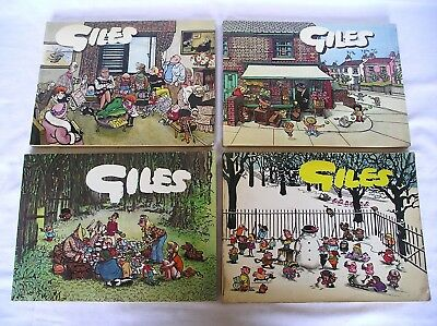 4 Giles Books, 1962, 1973, 1974, 1978 - 16th, 27th, 28th and 32nd series