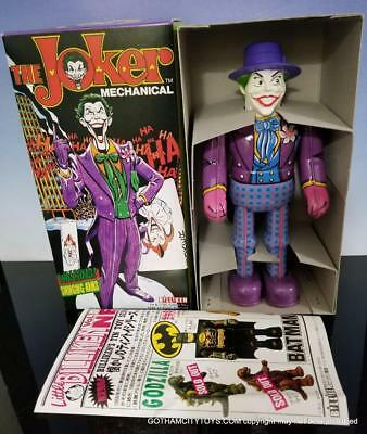 1989 Billiken JOKER~Awesome TIN LITHO Walking WIND UP based on BATMAN Character