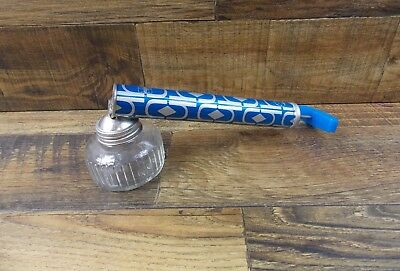 Vintage 1973 H.D. Hudson Bug Sprayer Blue Litho Glass & Aluminum
